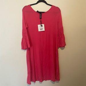 Agnes & Dora walker dress fuchsia hot pink